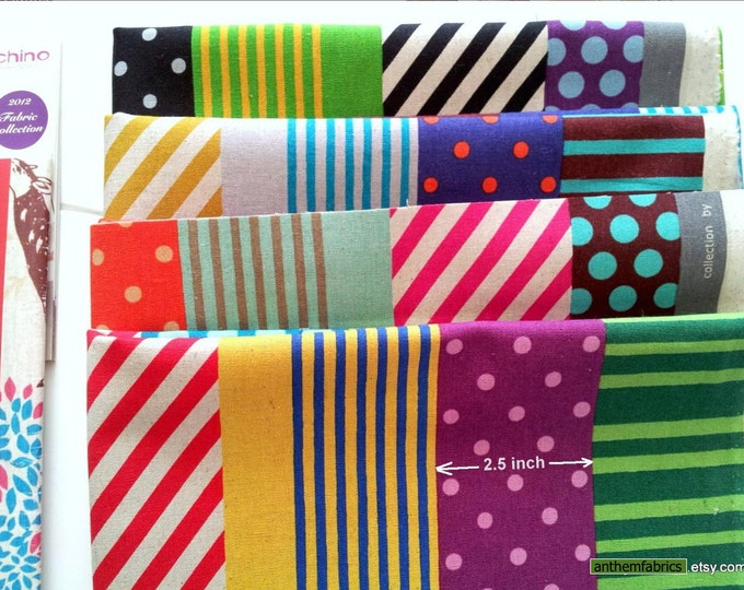 ECHINO-NICO Fall 2012 by Etsuko Furuya - Kika Stripe EF603, 1 yard - choose a color