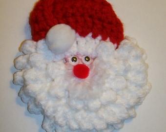 Santa Face Christmas Pin/Brooch -- U Pick Face Color