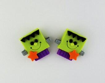 Halloween Frankenstein Post Earrings