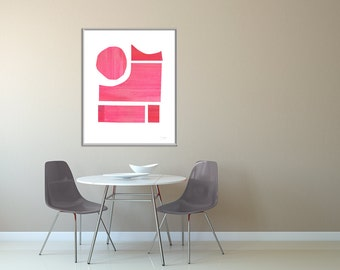 Modern Design Poster, Oversized Decor, Bedroom Art, Wall Art Set Abstract