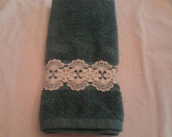 Hand Towel With Lace  Set Of 2