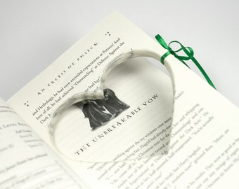 Engagement Proposal Ring Book Harry Potter Half Blood Prince Hollow Book Box Propose Unbreakable Vow Heart Cut Shape - CUSTOM ORDER