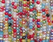 4x3mm Faceted Confetti Mix Chinese Crystal Rondell Beads 9 Inch Strand (4CCS26)