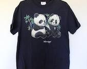 Navy Panda Mississippi Tee M Large 90s