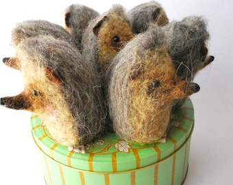 Original Needle Felted Hedgehog  Pin Cushion  Handmade By Miss Bumbles