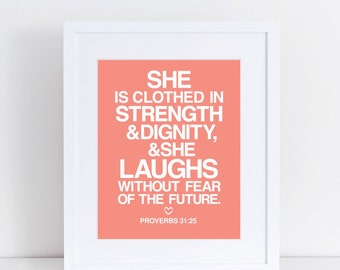 PROVERBS WOMAN - 8X10 Print