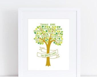 Custom Family Tree - 8x10 Print