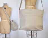 Coach Bag / Huge Hobo Bucket / cream leather MARKET tote