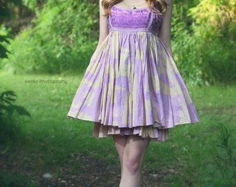 upcycled clothing . M . dress . the swing of things