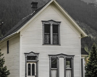 Old House in the Mountains - Silverton - Colorado - Old House - House in Silverton - Clapboard House - Dandelions - Fine Art Photography