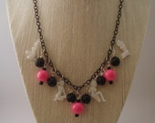 Pinup Girl Peep Show Retro Inspired Novelty Necklace