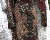 Large BOHEMIAN PATCHWORK print 90s / 1990s maxi dress of soft rayon
