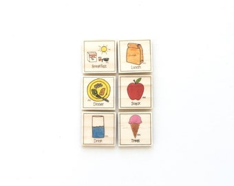 Time to Eat - Magnet Set of 6 - Meal Magnets - Food Magnets