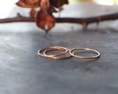 Gold Stacking Rings Set of 3, MADE TO ORDER 14k Gold Fill stacker rings