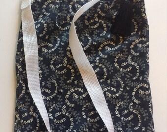 Navy Shoulder Bag with Pockets