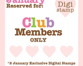 RESERVED for Club Members ONLY - January's Exclusive 2 Cute Ink Digital Stamps