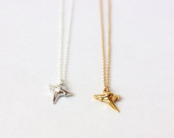 Shark Tooth Necklace - Gold or Silver