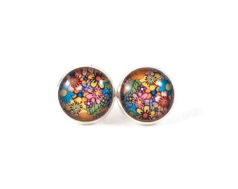 Groovy Flower Earrings for Teens Cute Earrings Gifts for Teenagers Retro Jewelry Hippy Jewelry Colorful Earrings Gifts Under 20