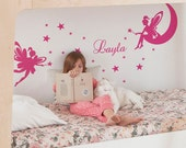 Kids Wall Decals, Tinker Bell Wall Decal, Fairy Wall Decal, Name Decals for Nursery, Personalized Name Decal