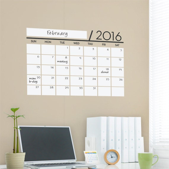 unique dry erase board decal wall calendar vinyl wall