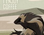 Wolverine Enjoys Coffee
