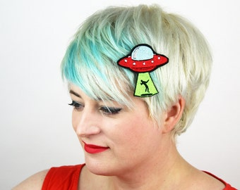 UFO Abduction Hair Clip