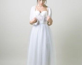 Tulle wedding skirt / floor length wedding skirt / Maxi tutu / Maxi wedding skirt / long white skirt/ bridal separates/ Tulle maxi skirt