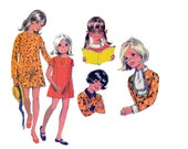 60s Girls Princess Dress Pattern McCall's 2094 Detachable Collar Trims Vintage Sewing Pattern Size 8 Breast 27 inches UNCUT Factory Folded