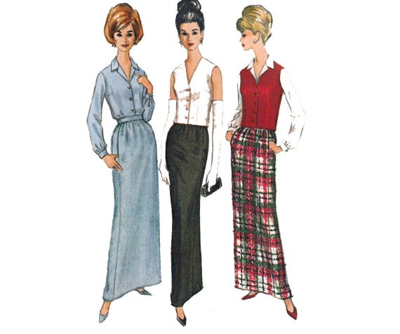 mccall s 7013 skirt blouse and vest pattern womens