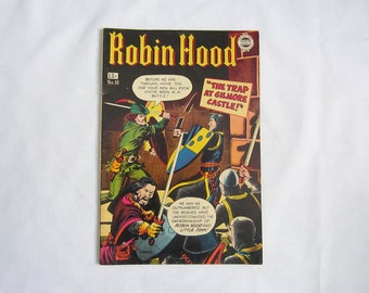 Vintage Robin Hood No. 10 - 1963 Super Comics reprint - 12 cents - collectible comic - The Trap at Gilmore Castle - 1960s collectible