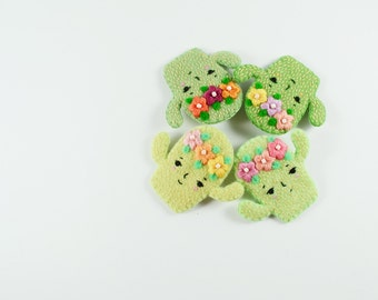 Fanciful Cactus Wool Felt Brooch / Mint Felt Cactus Brooch / Succulent Pin / Felt Succulent / Cute Cactus Pin / Spirited Cactus Felt Pin