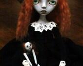 Handmade Collectible Unique -OOAK- Art doll- Clay- Octavia