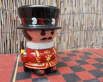Vintage Ceramic British Redcoat Guard Savings Bank
