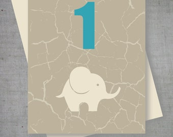 Printable Elephant Baby Shower Tent Cards (PDF)