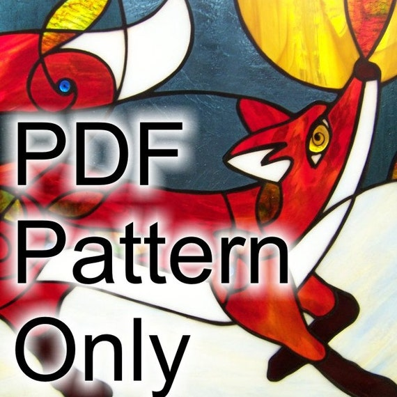 24 X 18 PATTERN For Red Fox In The Blueberry Patch