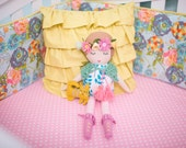 Lily Belle Yellow Layered Ruffle Pillow