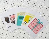 Wes Anderson inspired Postcard set Grand Budapest Moonrise Kingdom