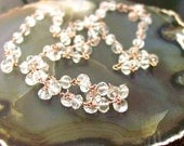 Morganite Necklace Rose Gold Filled Rosary Style