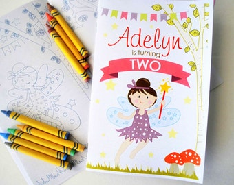 fairy coloring books 6 handmade coloring books fairy tale birthday personalized coloring books - Personalized Coloring Book