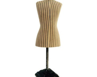 Antique French Miniature Dress Form Mannequin Countertop Salesman sample  Department Store Display Retail Store