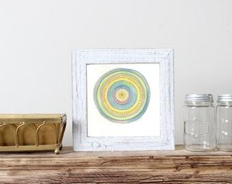 Mandala - Mandala Drawing - Bohemian Wall Art - Mandala Wall Art - Mandala Pattern - Neon - Mandala Art - Meditation Art - Neon Art - Boho