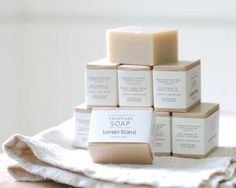8 BARS OF SOAP - Ellie's Handmade Soap - 100% Natural + Cold Process Olive Oil Soap