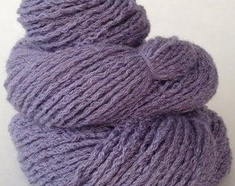 Lilac, angora blend, worsted weight YARN 200 yards  reclaimed sweater yarn