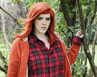 SALE Straight Copper Ginger Orange wig   Long Autumn Fall Harvest Hair   October