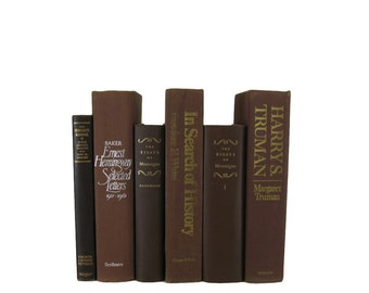 Set of Brown Books , Old  Books , Decorative Books  , Wedding Centerpiece , Book Home Decor ,  Vintage Books , Instant Library