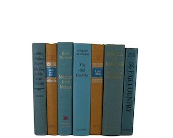 Blue vintage decorative books, old books ,  blue books , decorative books , book set ,  wedding table decoration, book centerpiece