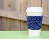 Crocheted Coffee Sleeve in Purple- Coffee Cozy- Java Jacket