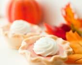 Pumpkin Pie Soap  - Valentine Pie - Mini pumpkin pie - Vegan soap - dollop of whipped cream