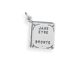 Sterling Silver Jane Eyre Book Charm Pendant Literature School