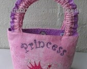 Little Girls Bag with Princess & Wand Embroidery Designs